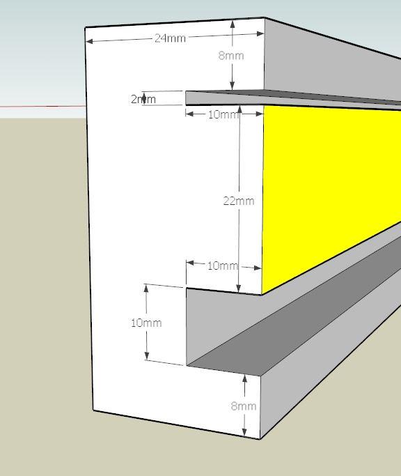 Plans et cotations d'une ruche Dadant 10 cadres B211