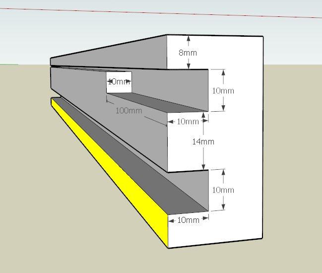 Plans et cotations d'une ruche Dadant 10 cadres B311