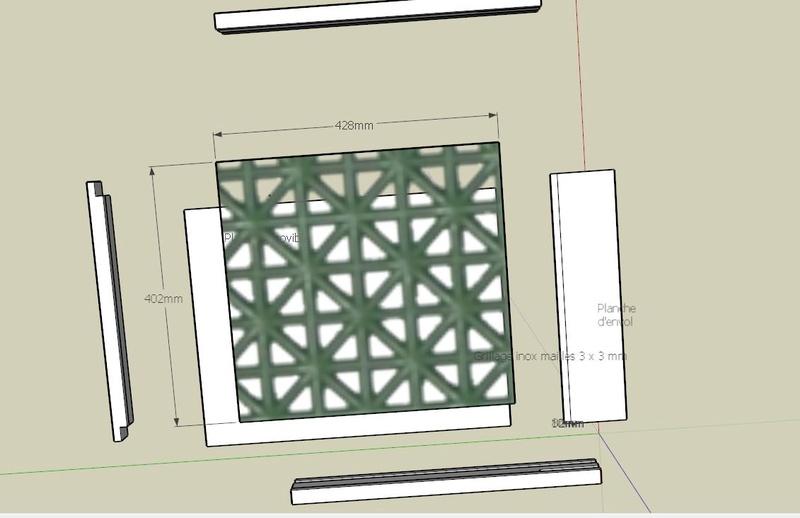 Plans et cotations d'une ruche Dadant 10 cadres B810