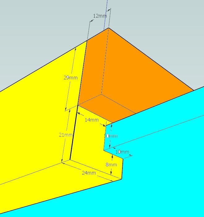 Plans et cotations d'une ruche Dadant 10 cadres C11