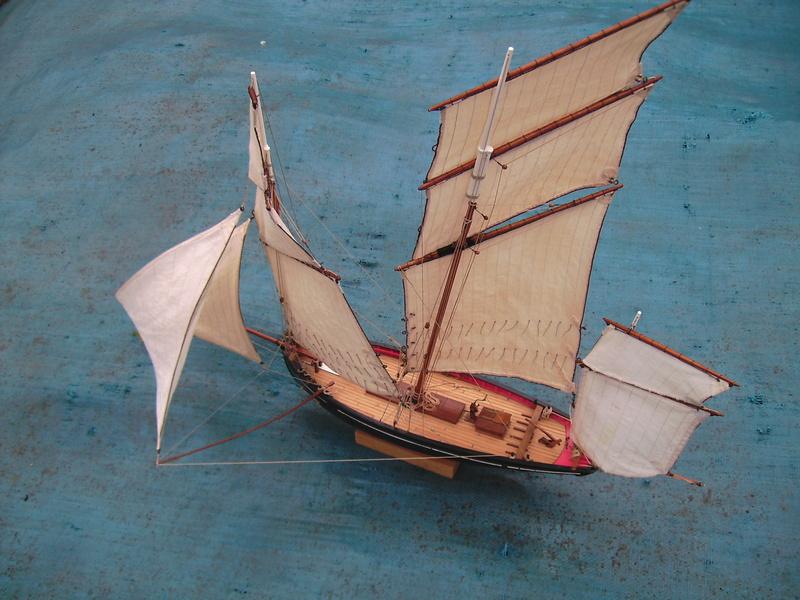 BISQUINE au 1/40 Kit Billing Boats modifié Xavero - Page 10 Voiles11