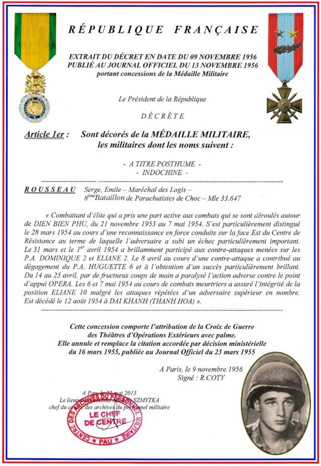 maréchal des logis. Serge-Emile Rousseau  8eme BPC  MPLF le 12 aout 1954 2_plaq10