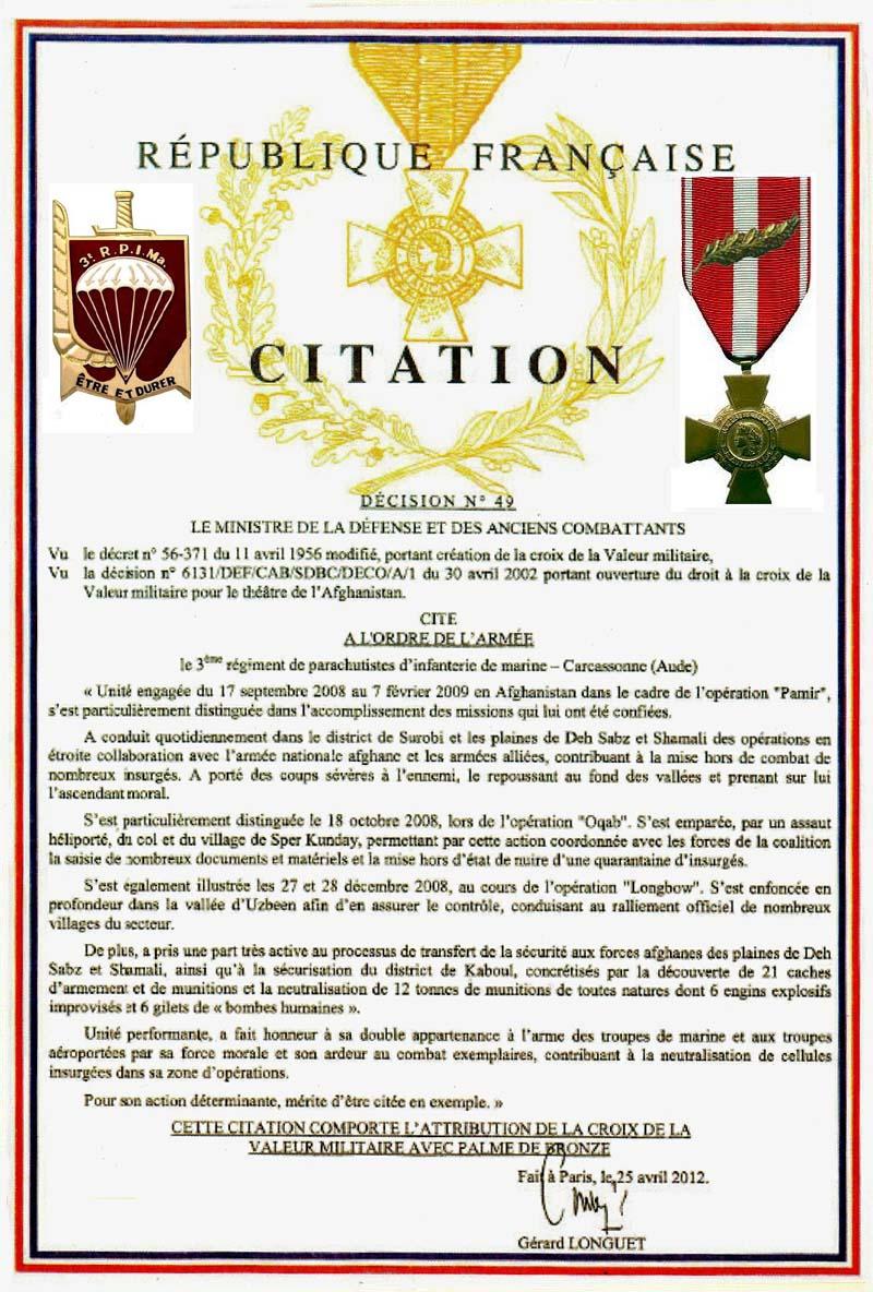 TOPIC 3ème Régiment de Parachutistes d'Infanterie de Marine (3ème RPIMA) 4_cita10