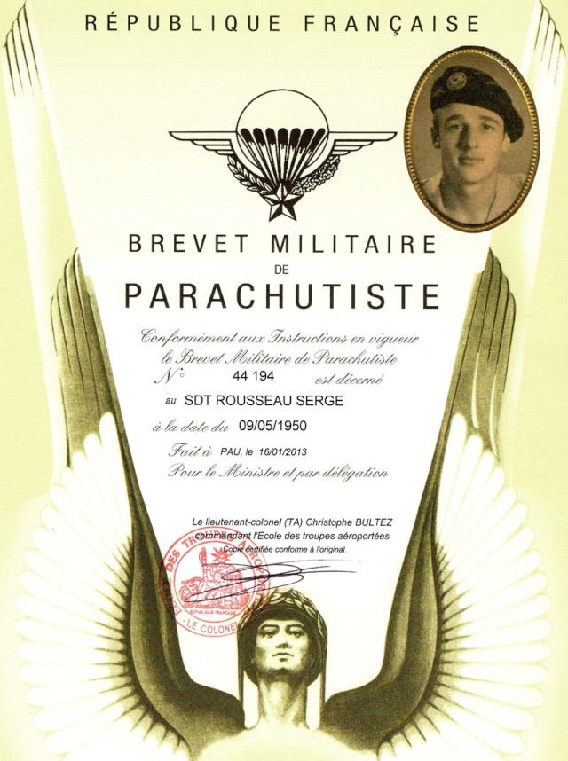 maréchal des logis. Serge-Emile Rousseau  8eme BPC  MPLF le 12 aout 1954 Serge_10