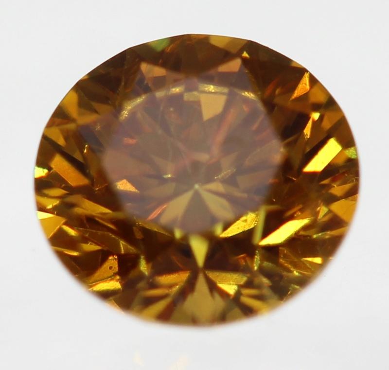 Bague or deux diamants en serti clos Orange10