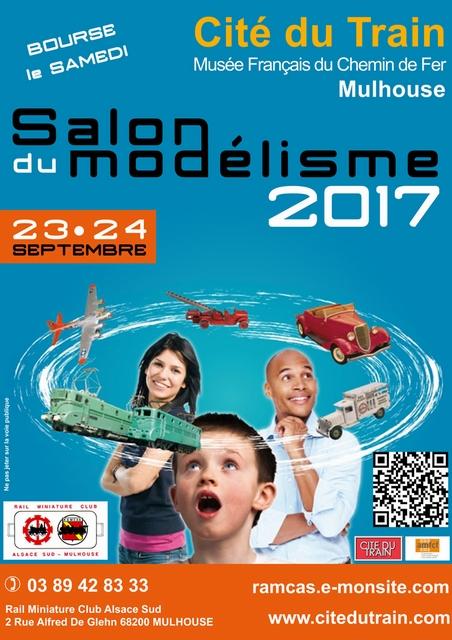 Mulhouse - Cité du Train - Bourse et Salon du modélisme 23-24/09/2017 Affich11