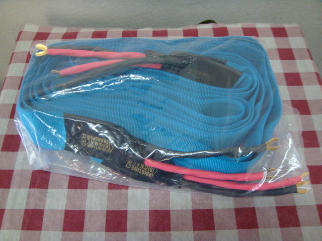 Pristine flat speaker cable 3 meter pair(sold) Dsc04223