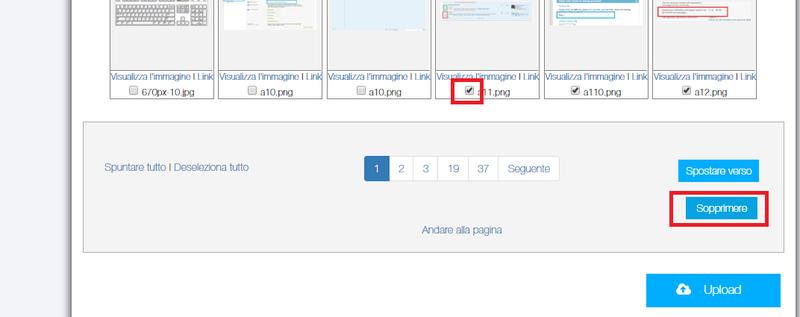 Come eliminare le immagini caricate nell'archivio ...  Immagi11