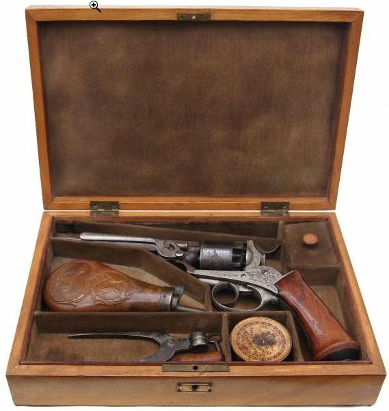 Revolver à percussion Herman David, entre 1856 et 1858. Hd110