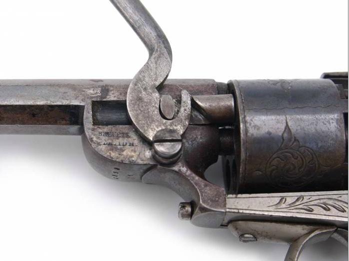 Revolver à percussion Herman David, entre 1856 et 1858. Hd610