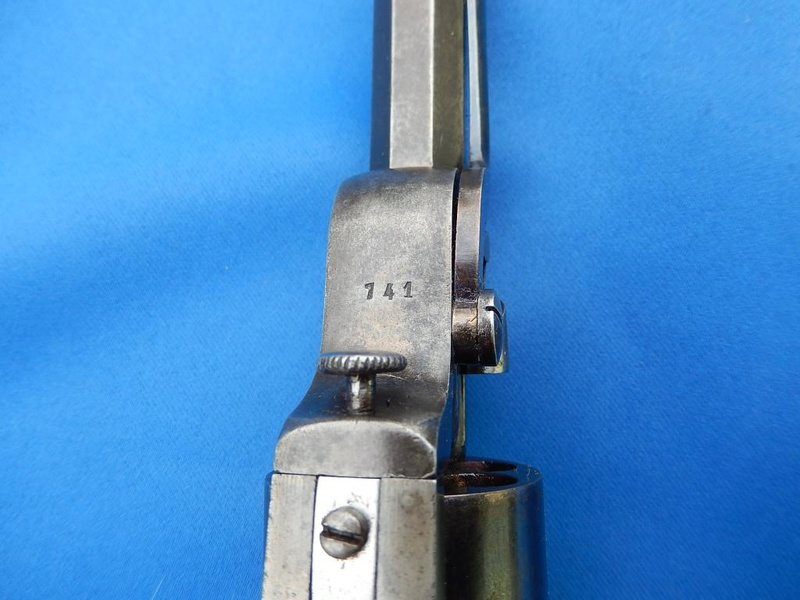 Revolver à percussion Herman David, entre 1856 et 1858. Hd710