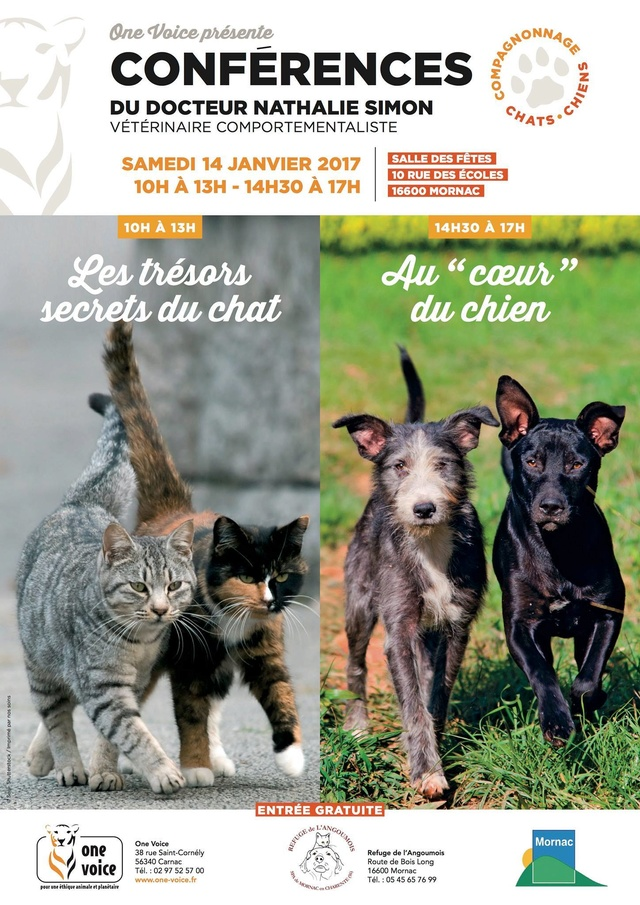 Conférences compagnonnage chats et chiens 14 janvier 2017 15844211