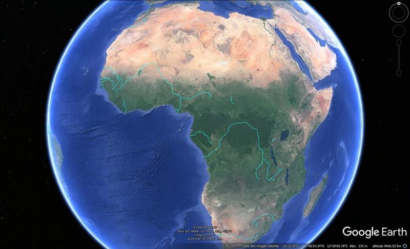 KMZ : Fleuves et Rivière du Monde Afriqu12