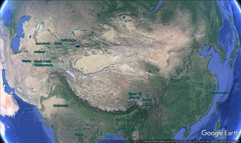 KMZ : Fleuves et Rivière du Monde Asie10