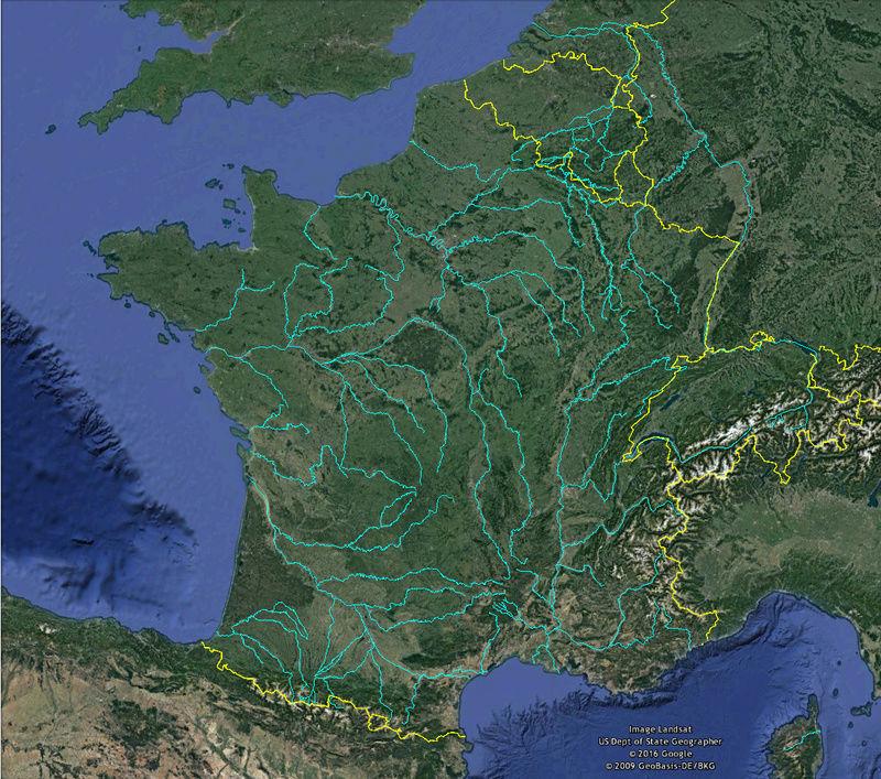 KMZ : Fleuves et Rivière du Monde Riviyr11