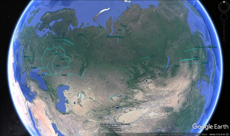 KMZ : Fleuves et Rivière du Monde Russie10