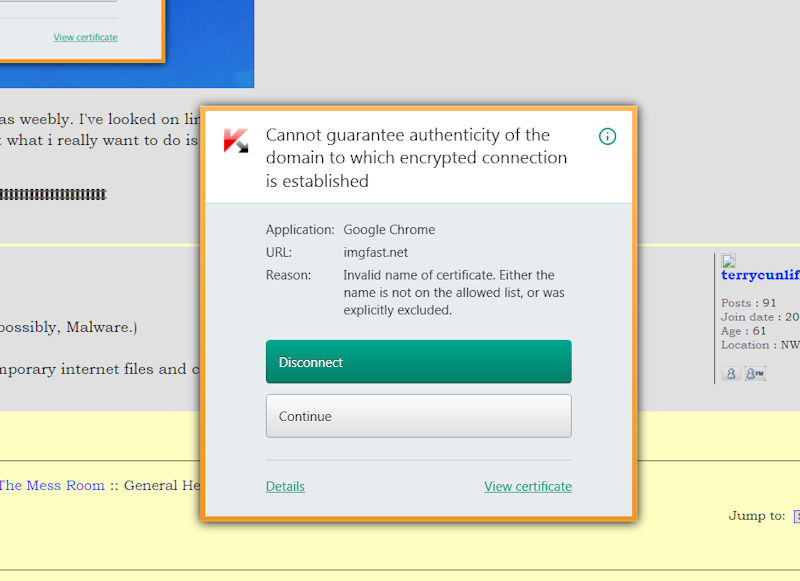 Invalid certificate? Certwa11
