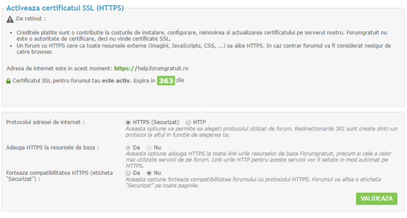 Certificatele SSL sunt acum disponibile pentru Forumgratuit. 16443310
