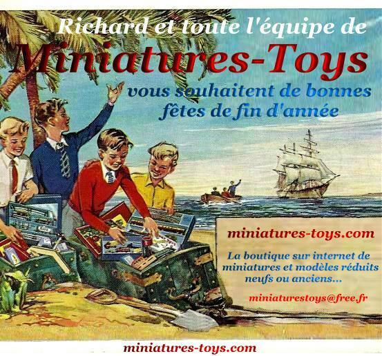 Richard et toute l'équipe de la boutique en ligne Miniatures Toys vous souhaitent de bonnes fêtes de fin d'année... Carte_10