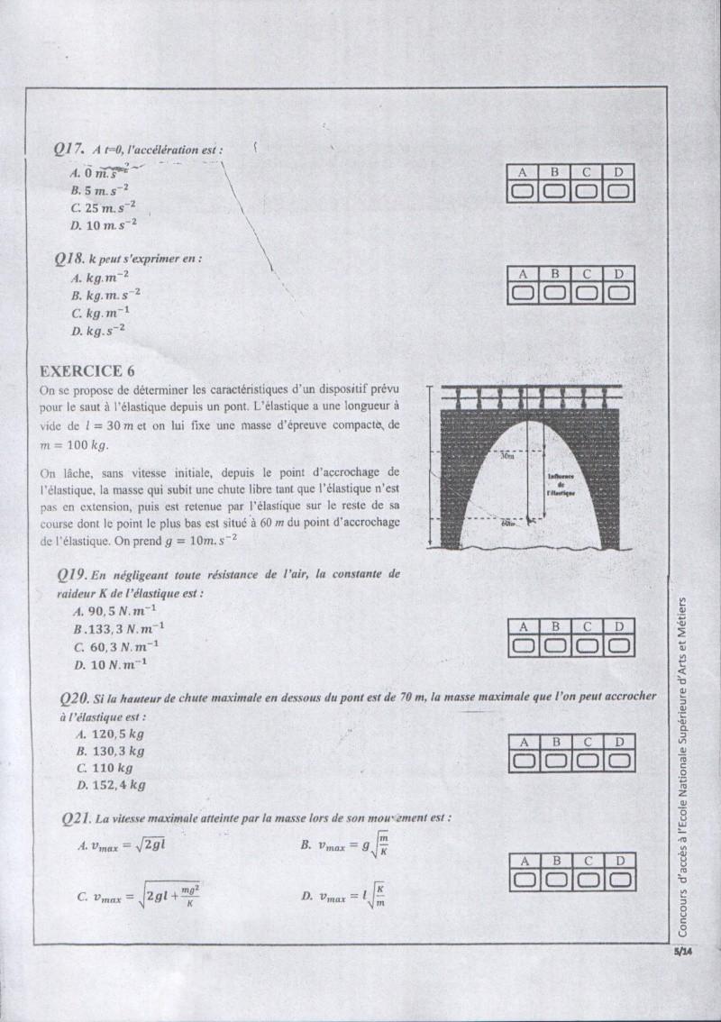 Concours de l'ENSAM de Casablanca 2012 (physiques): 0510