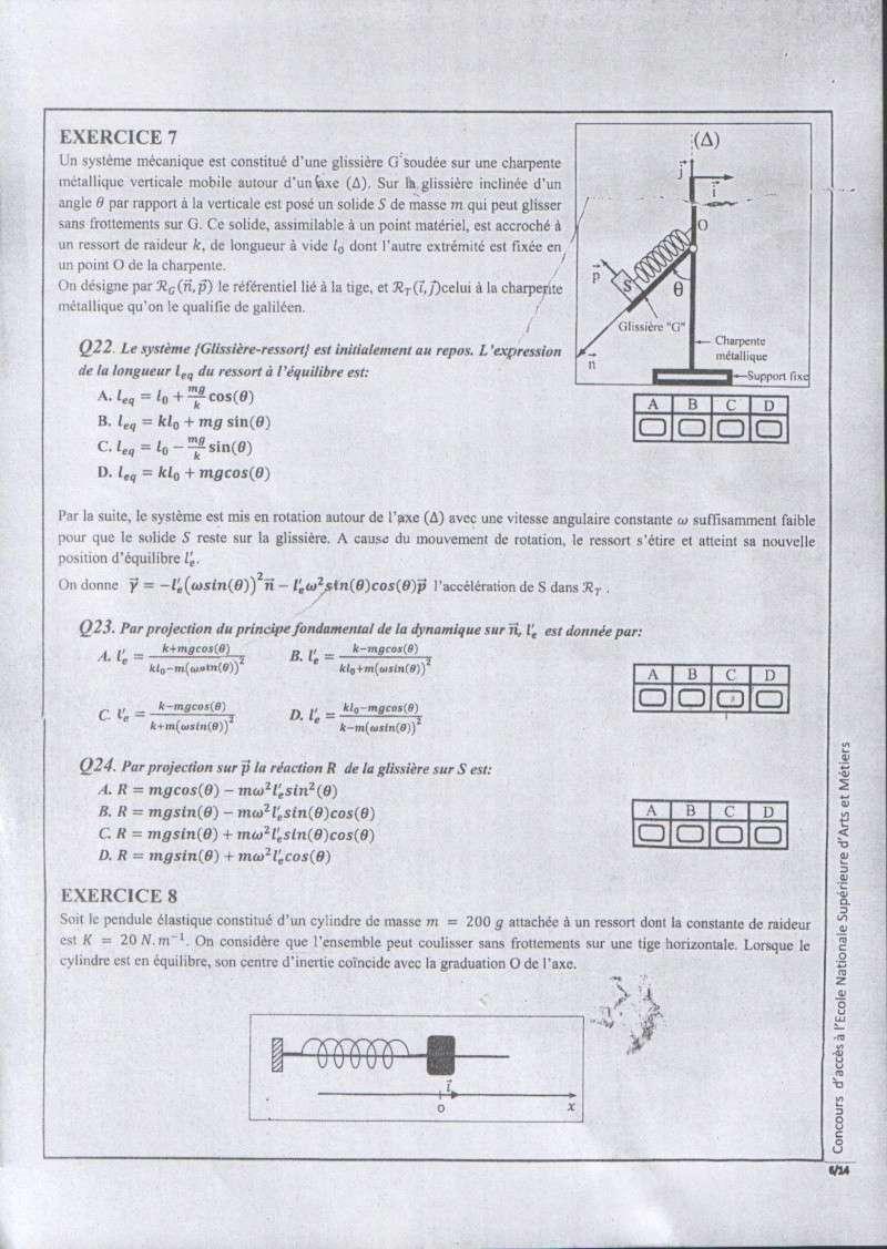 Concours de l'ENSAM de Casablanca 2012 (physiques): 0610