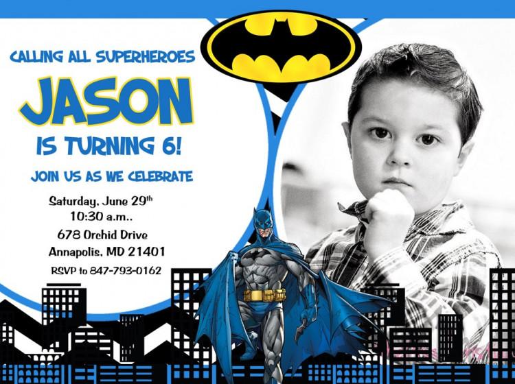 carton invitation anniversaire Batman10