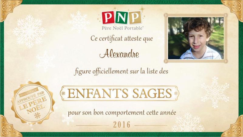 Certificat pour Noël Certif10