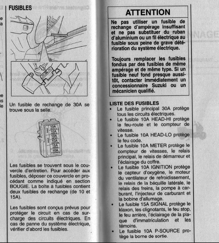 Problème sur tableau de bord 125 BURGMAN 2005 Fusibl10