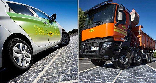 La France a démarré la construction de la première route solaire au monde 210