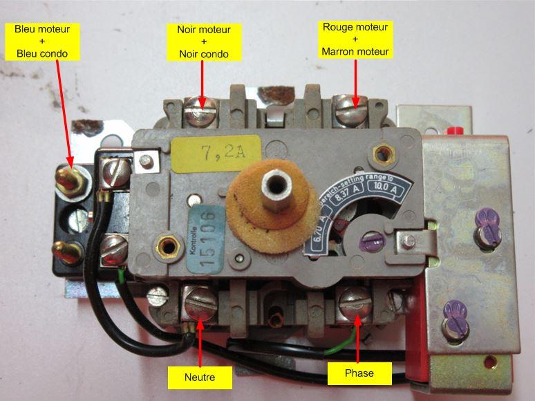 Remplacement moteur 2 arbres sur  combiné Kity 26  Cablag10