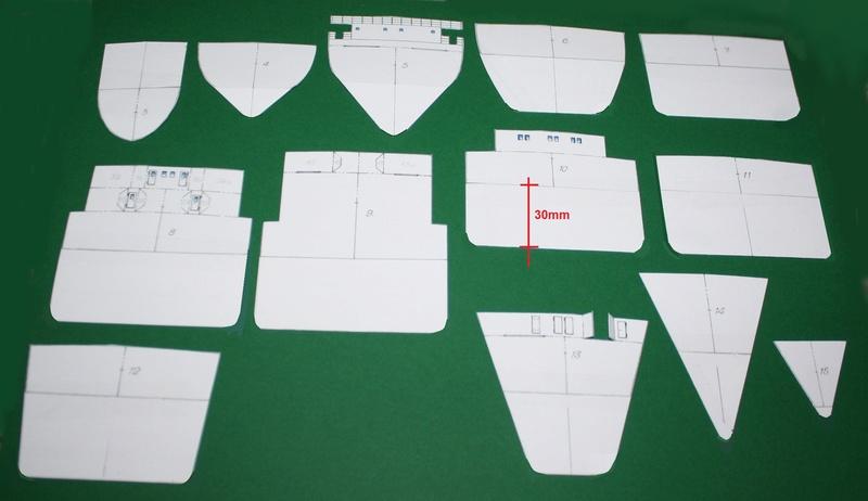 Ein Kartonmodell schwimmfähig mit RC bauen, MS SOLINGEN 1:250 Img_0030