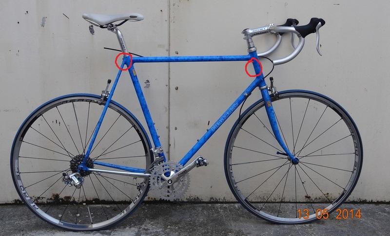 """Vélo de route """"Hébrard"""" Columbus SLX 2014-010"""