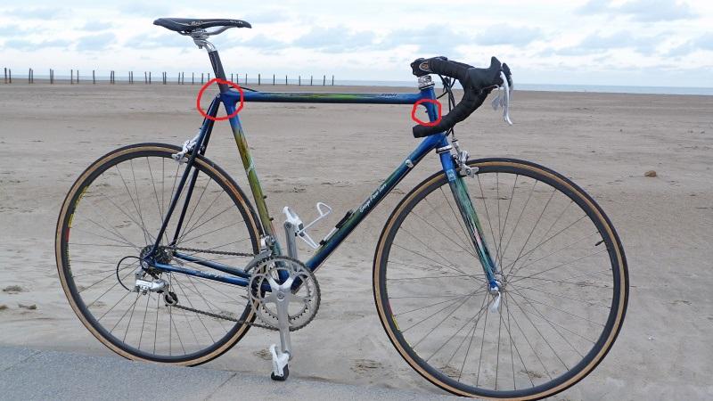 """Vélo de route """"Hébrard"""" Columbus SLX 27802910"""