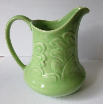 plate - Leaf Jug Shape 416 Green_10