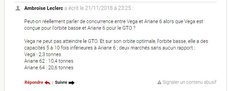Spatial : les perles des médias Ariane10
