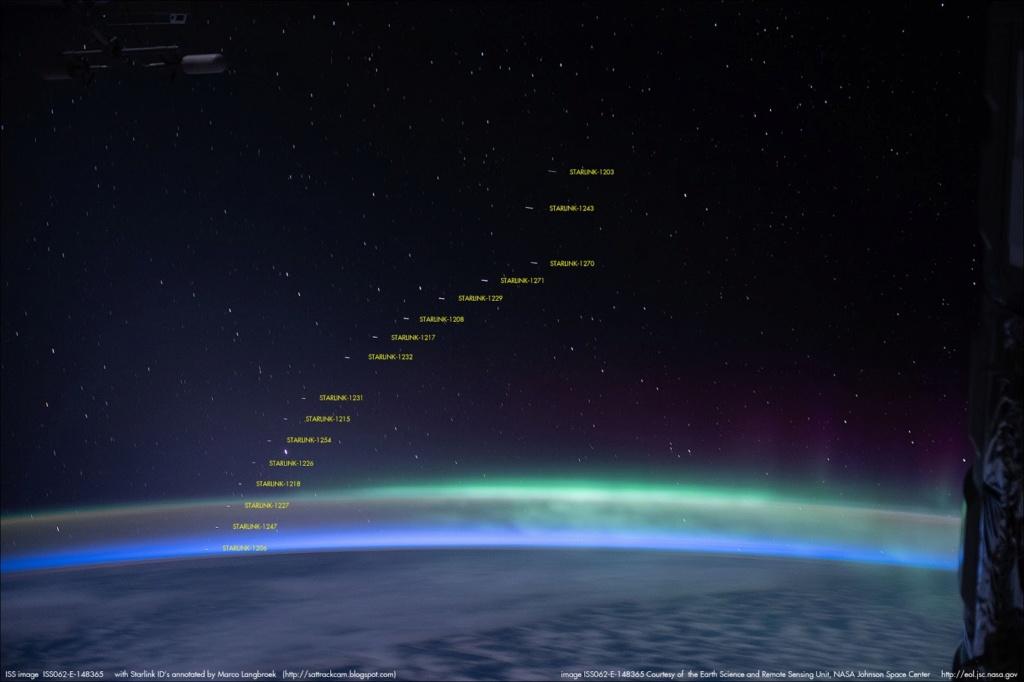 Pollution lumineuses des satellites Starlink et réaction de SpaceX - Page 7 Iss06210