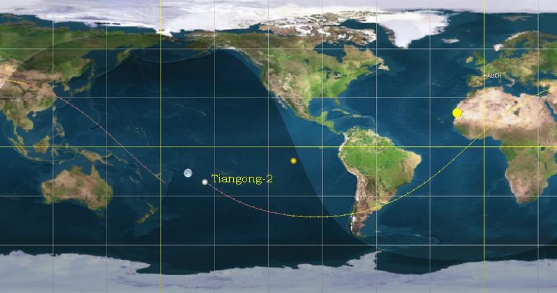 Fin de mission et désorbitation de Tiangong-2 - 19.7.2019 Tiango10