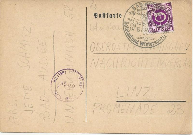Posthornzeichnung  -  ANK 697-713  -  Belege - Seite 3 Bild29