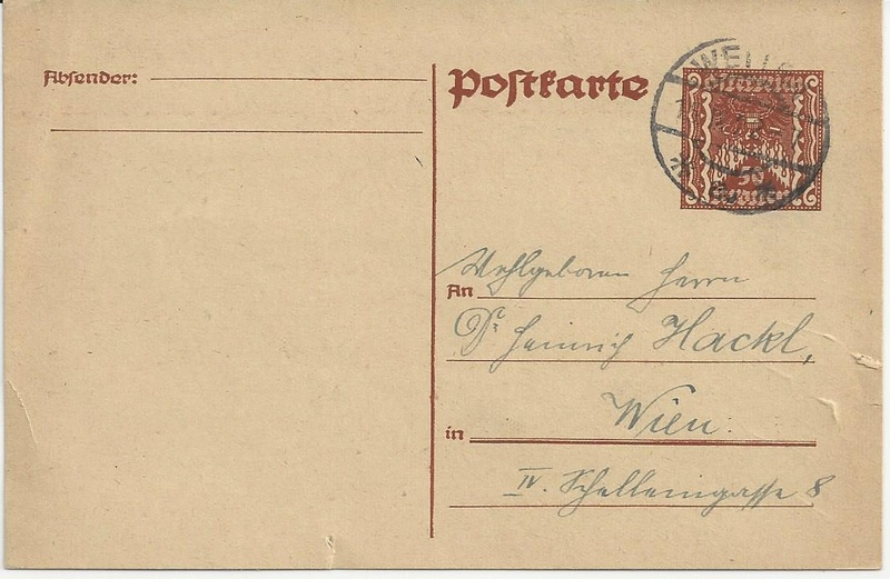 """Postkartenserie """"Quadratischer Wertstempel - Wertziffer im Dreieck"""" 1922-24 - Seite 5 Bild42"""