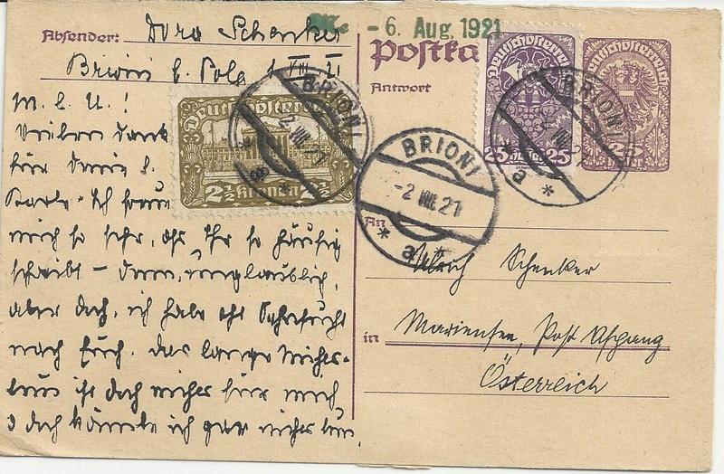 """Postkartenserie """"Neuer Wappenadler"""", Inschrift """"Deutschösterreich"""" - Seite 3 Bild47"""