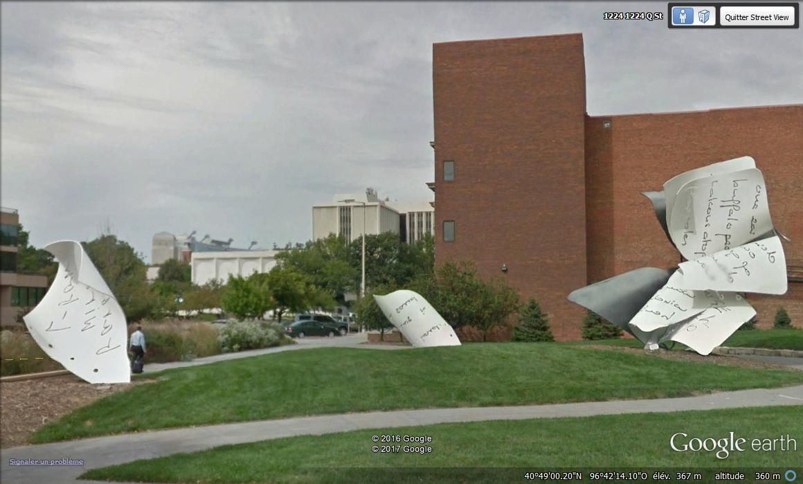 Feuilles de papier géantes, Lincoln, Nebraska - USA Lbvx10