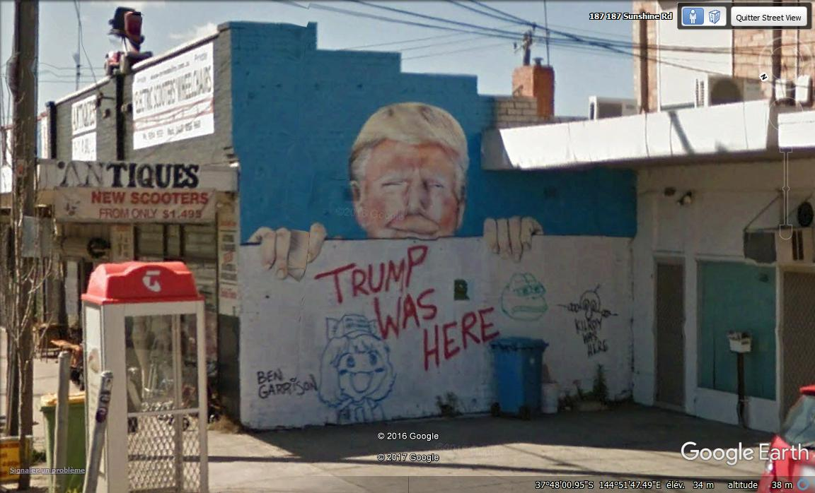 """Trump was here""!!!  Melbourne - Australie Rcv10"