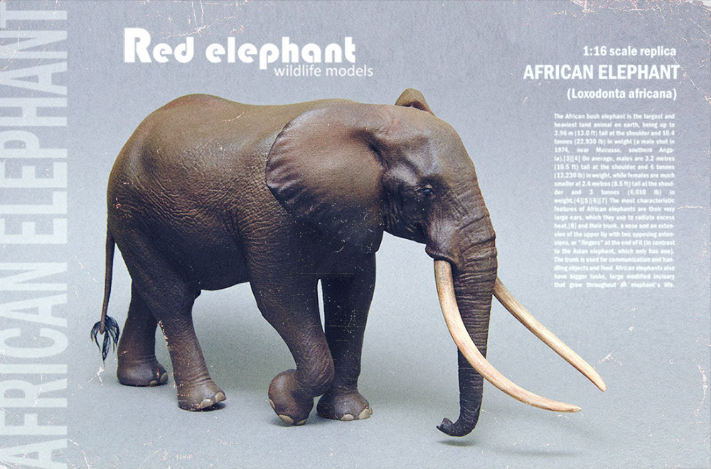 Large Bull African elephant replica Elepha13