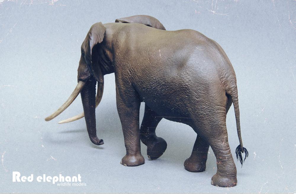 Large Bull African elephant replica Elepha15