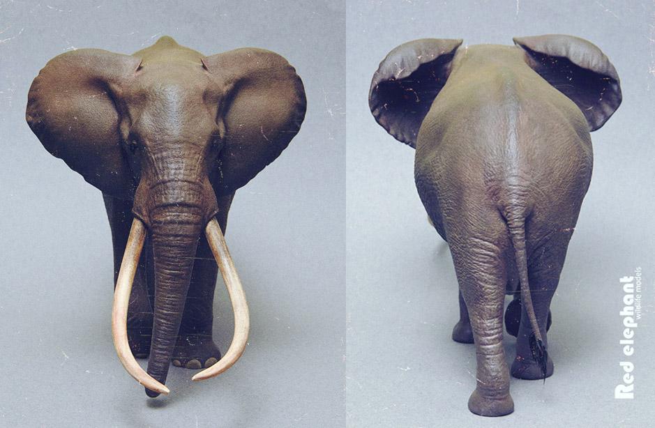 Large Bull African elephant replica Elepha17