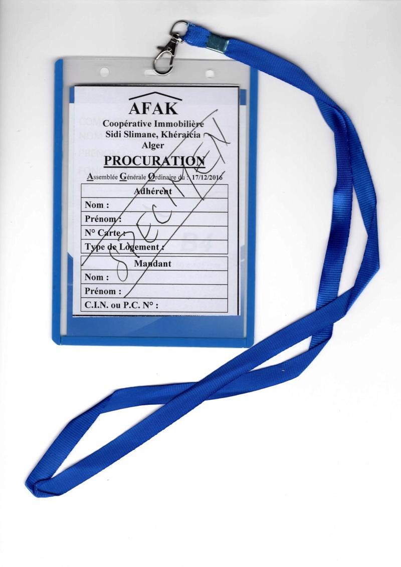 Documents officiels concernant le projet AFAK dans l'ordre chrologique 2016-118