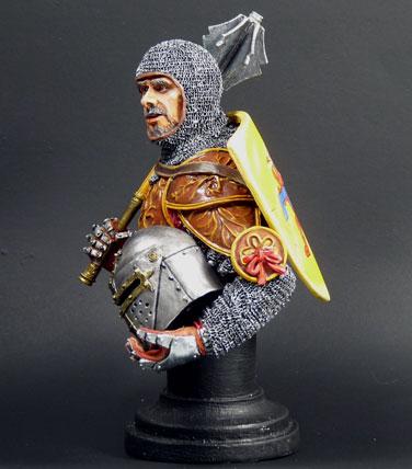 XIVe siècle monté chevalier italien, MJ Miniatures, 1/10 Knight11