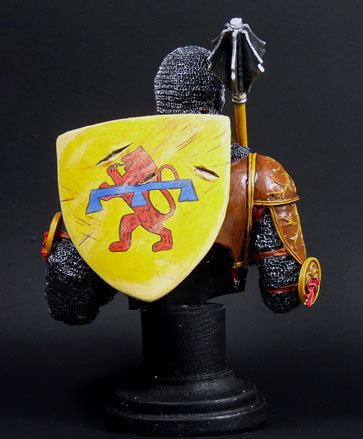 XIVe siècle monté chevalier italien, MJ Miniatures, 1/10 Knight12