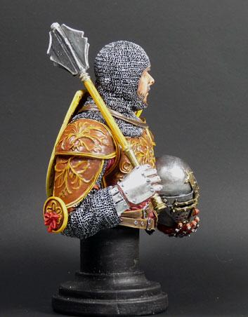 XIVe siècle monté chevalier italien, MJ Miniatures, 1/10 Knight13