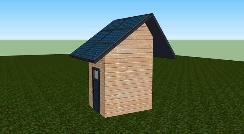 Local technique moins de 5m² en bois. Abris011